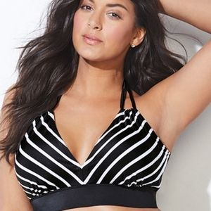 Black and white halter bikini top BRAND NEW IN PKG
